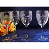 Personalized Wine Glasses - 10 Oz. - Set of (4)