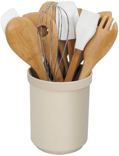 Cook N Home 15-Piece Bamboo Tool in Tub Set