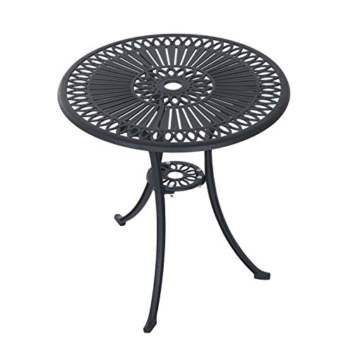 Outsunny 3 Piece Antique Style Outdoor Patio Bistro Dining Set - Black 4
