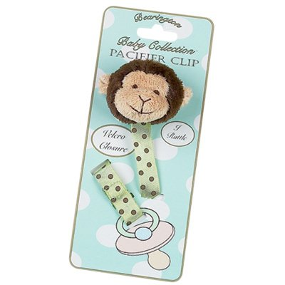 Bearington Baby Plush Giggles Monkey Pacifier Clip (Bearington Baby Pacifier Clip compare prices)