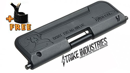 Strike Industries Ultimate Enhanced Dust Cover 556/223/300 BLACK Don't Tread On Me with Free Ring Tool