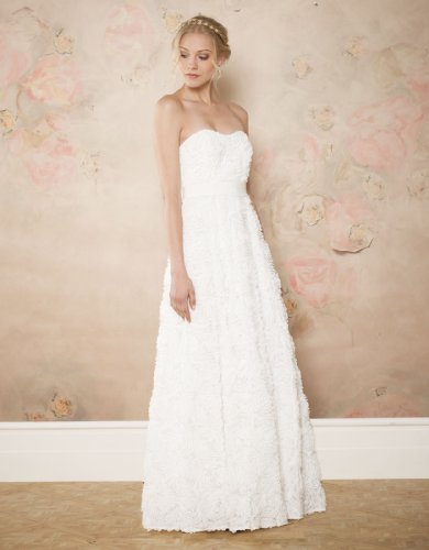 Monsoon Womens Rosetta Bridal Dress Size 8 White