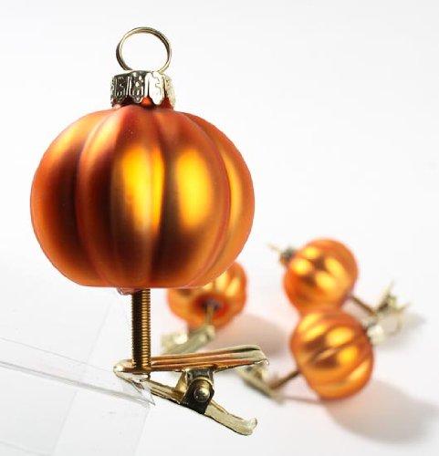 Unique Harvest Orange Glass Pumpkin Gourd Place Card