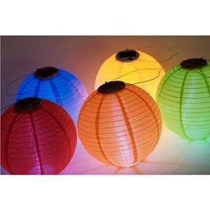 Soji Solar Nylon Lantern White w/White LED