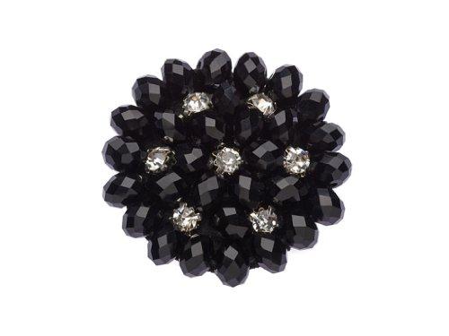 """La Loria - Donna Clip Decorative Per Scarpe """"Black Beauty"""" Gioielli, Spille, Accessori Per Scarpe in colore nero - 1 Coppia"""