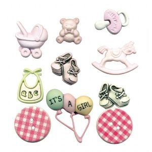 BUTTON THEME PACKS BABY GIRL Papercraft, Scrapbooking (Source Book)