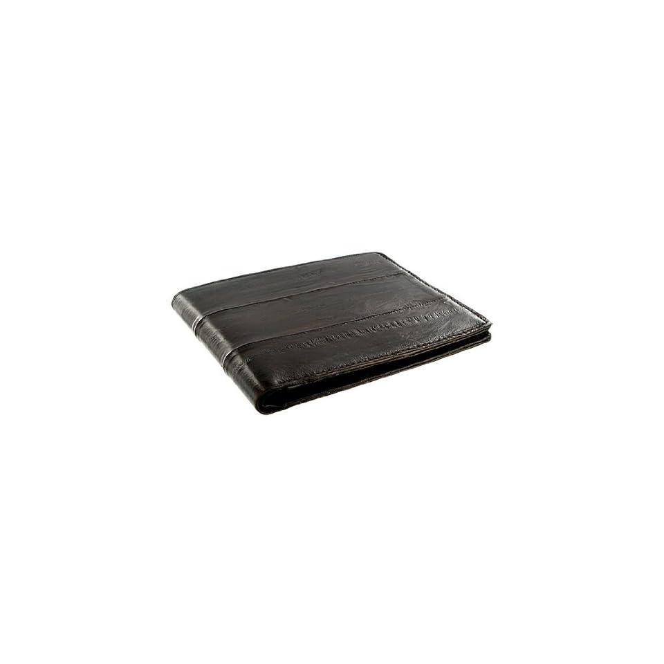MWE703 BR Eel Skin Leather Credit Card Holder Brown Wallet