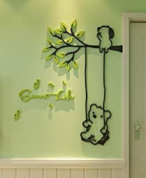 Acrylic Wall Stickers, 3D Crystal Wall Decals- Sweet Life 35*40 inch