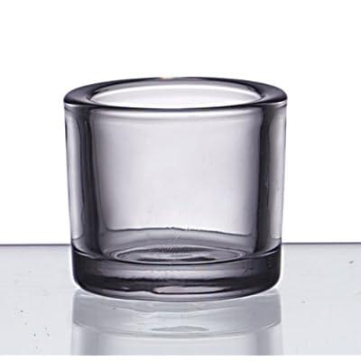 6er set glas zylinder heavy klar deko teelicht windlicht d9cm und d6 5cm ebay. Black Bedroom Furniture Sets. Home Design Ideas