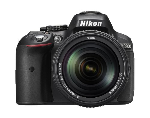 Nikon D5300 Digital SLR Camera with 18-140mm VR Lens - Black 24.2MP 3.2 inch LCD