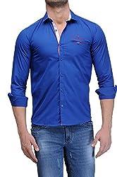 Fender Zone Men's Casual Shirt - 21181-42_Blue_42
