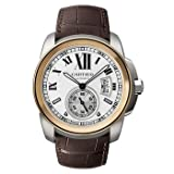 CARTIER Watches:Cartier Calibre de Cartier 18k Rose Gold & Steel Automatic Watch W7100011