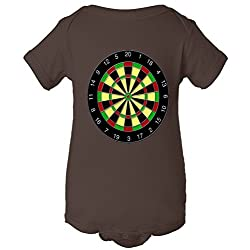 Flat Dart Board Gaming One Piece Baby Bodysuit