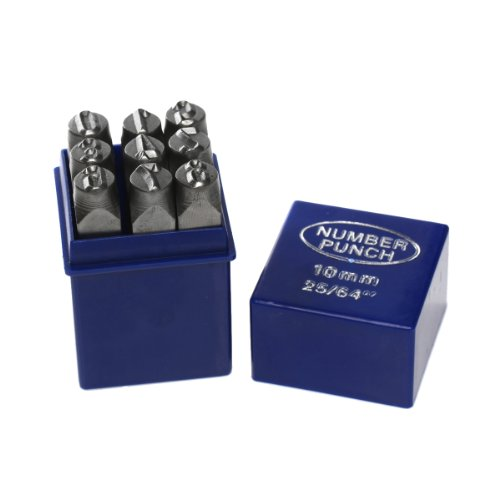 Number Set 0-9 Stamp Punch Set Hardened Steel for Metal Wood, Leather (Number And Letter Punch Set 1 4 compare prices)