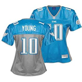 Vince Young Titans Blue NFL Fashion Jersey &#8211; Women&#8217;s ( sz. XL, Blue : Young, Vince : #10 : Titans )