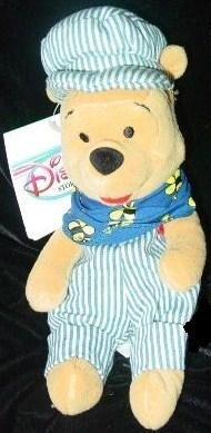 Disney Winnie the Pooh Choo Choo Pooh Bean Bag Plush Doll Toy - 1