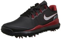 Nike Golf Men\'s Nike TW \'14 Golf Shoe,Black/Metallic Dark Grey/Varsity Red/Reflect Silver,9 M US