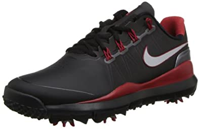 Nike Mens TW 14 Golf Shoes (Black/Metallic Silver) 2013 Mens Black/Metallic Silver/Red 8 Reg Mens Black/Metallic Silver/Red 8 Reg