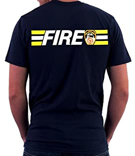 MALTESE CROSS W/FIRE STRIPE ON BACK T-SHIRT