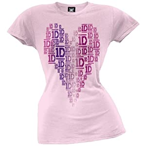 One Direction - Logo Hearts Juniors T-shirt