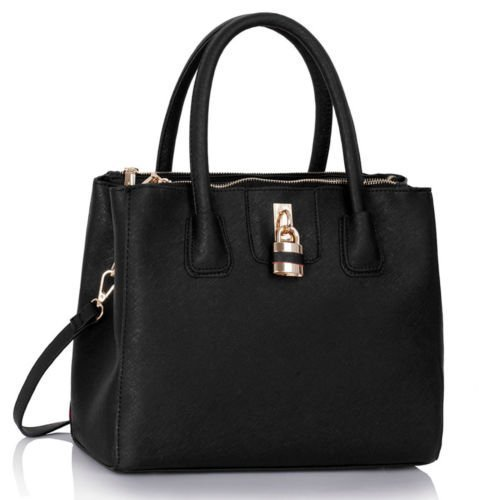 Ladies Faux Leather Handbags Large Three Compartments Womens Designer Bags Tote Shoulder Bags