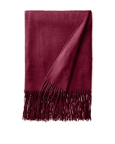 a & R Cashmere Waterweave Cashmere Throw, Raspberry