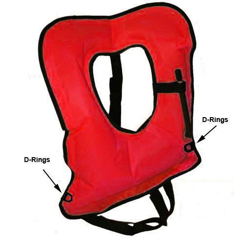 Orange Adult Explorer Snorkel Vest - New Updated Version with D-Rings and Comfort Straps