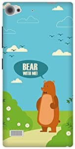 The Racoon Lean printed designer hard back mobile phone case cover for Lenovo Vibe X2. (Bear with)