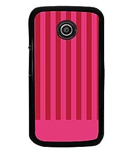 printtech Pink Lines Pattern Back Case Cover for Motorola Moto E XT1021::Motorola Moto E (1st Gen)