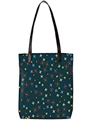 Snoogg Multicolor Designed Pattern Womens Digitally Printed Utility Tote Bag Handbag Made Of Poly Canvas With...