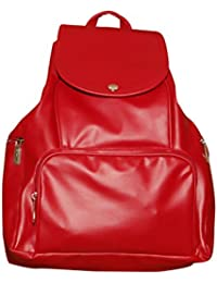 U LOVE Red Non Leather Premium Back Pack Bag.