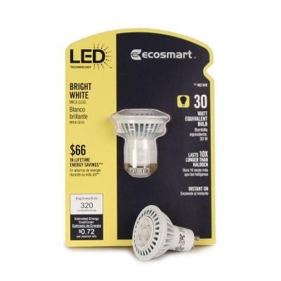 Ecosmart 402649 6-Watt (30W) Bright White (3000K) Mr16 Led Flood Light Bulb