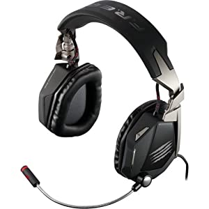 "Mad Catz, Inc - Mad Catz F.R.E.Q. 7 Surround Sound Gaming Headset For Pc - Matte Black - Surround - Matte Black - Mini-Phone, Usb - Wired - Over-The-Head - Binaural - Circumaural - Noise Cancelling Microphone ""Product Category: Audio Electronics/Headsets/"