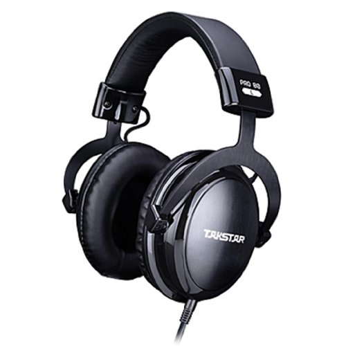 Blue Melody Best Dj Studio Monitor Monitoring Pro Professional Mtv Stereo Wired Long Cord Student Style Headphones With Leather Ear Muffs For Music Pro80 Black