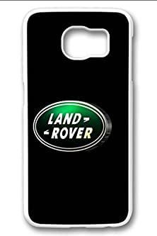 buy S6 Edge Case,Hard Shell Plastic Pc [White] Cover Snugly Sleek Slim Light Weight Frosted Colorful Vibrant Fit Headphones Port Male Gift Samsung Galaxy S6 Edge-Land Rover Emblem 2