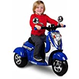 Yamaha Vino Retro 3-Wheel Scooter 6V Battery-Powered Ride-On, Blue