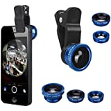LightHome 3 in 1 180 Degree Fish Eye Lens + Wide Angle + Micro Lens Kit for iPhone 4 4S 4G 5 5G 5S 5C 6 Plus iPad 1 2 3 4 5 Samsung GALAXY S2 I9100 S3 I9300 S4 I9500 Note I9220 Note2 N7100 Note3 S3 S4 S5 mini i8190 S7562 HTC LG-Blue
