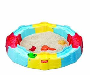 Fisher-Price Sand N Play Build a Box Sandbox, Yellow/Blue