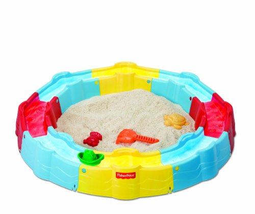 Fisher-Price Sand N Play Build A Box Sandbox, Yellow/Blue front-10490
