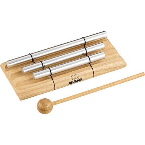 Nino Percussion Nino580 Handheld Energy Chimes, 3 Rows, Natural Finish