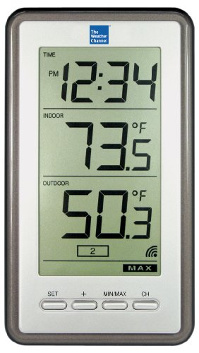 La Crosse Technology The Weather Channel Ws-9160U-It Digital Thermometer With Indoor/Outdoor Temperature