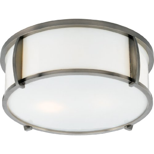 B0035QANHQ Quoizel LSS1613PS Sequel 2 Light 13-InchFlush Mount, Pewter Plated