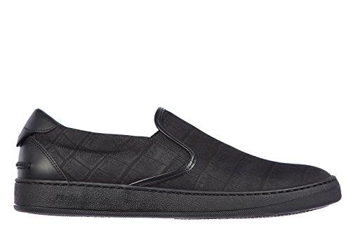 fendi-mens-slip-on-sneakers-stamp-cocco-black-uk-size-65-7e0700-y97-f0tt4