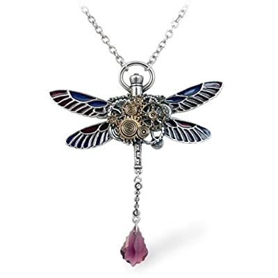 Clockwork Darter Steampunk Dragonfly Necklace