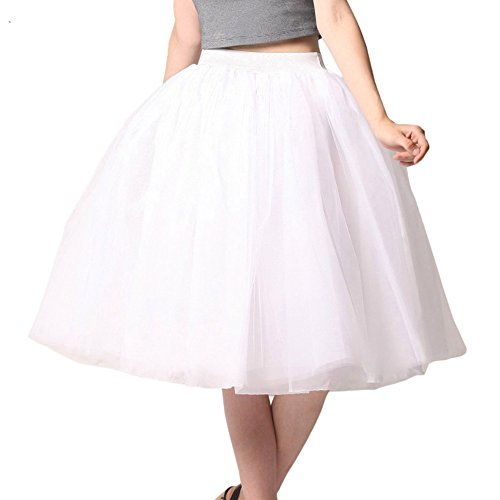 Women Crinoline Tulle Skirt petticoat Tutu Princess Midiskirt Slip 6 Layers (Petticoat Junction Season 4 compare prices)