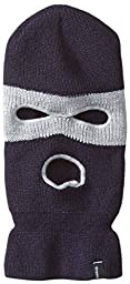 Brixton Men\'s Barger Face Mask Beanie, Navy/Light Heather Grey, One Size