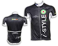 Cycling short sleeve Jersey (ISTYLE_VERTIGO- black) 4XL
