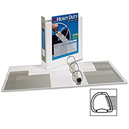 Avery(R) Heavy-Duty EZD Locking D-Ring View Binder, 2in. Ring, White