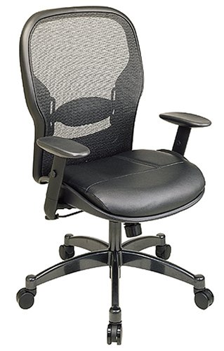 office star space matrex back managers chair with leather seat