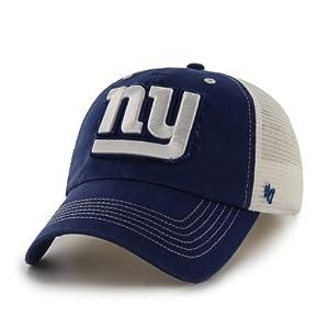 New York Giants 47 Brand Royal White Mesh Blue Mountain Flexfit Hat Cap by